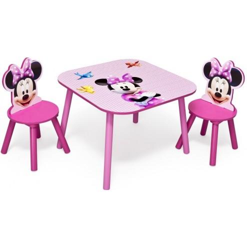 Set masuta si 2 scaunele Disney Minnie Mouse