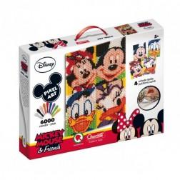 Joc creativ Pixel Art Quercetti tablou Mickey Mouse si prietenii lui 6000 piese