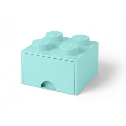 Cutie depozitare LEGO 2x2 cu sertar, aqua (40051742)