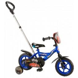 Bicicleta penru baieti 10 inch, cu roti ajutatoare, Volare Yipeeh