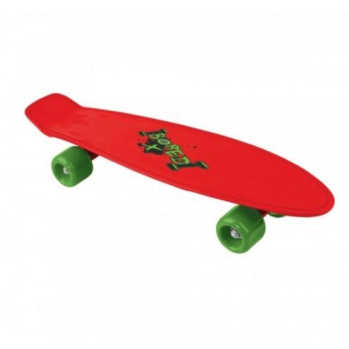 Skateboard copii Cruiserboard model Red Bored 53cm