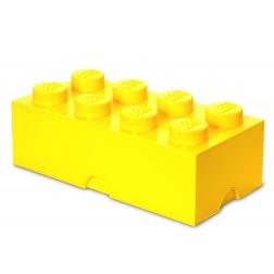 Cutie depozitare LEGO 2x4 galben