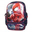 Ghiozdan clasele I-IV Spiderman bleumarin dreptunghiular Pinga si minge cadou