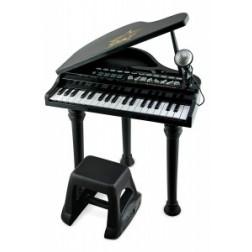 Mini Pian cu scaunel si microfon Winfun 37 clape cu functie inregistrare Negru