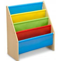 Organizator carti cu cadru din lemn, Natur Multicolor