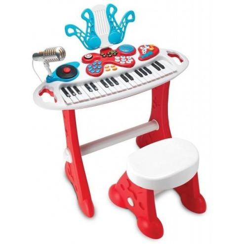 Orga muzicala cu 37 clape Winfun pentru copii cu scaunel