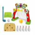 Set 4 in 1 jocuri sport Winfun pentru copii fotbal popice baschet si golf