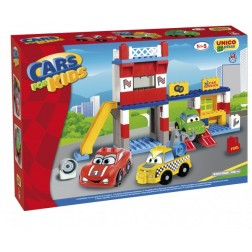 Cars for Kidz garaj cu masini 108 piese - Unico