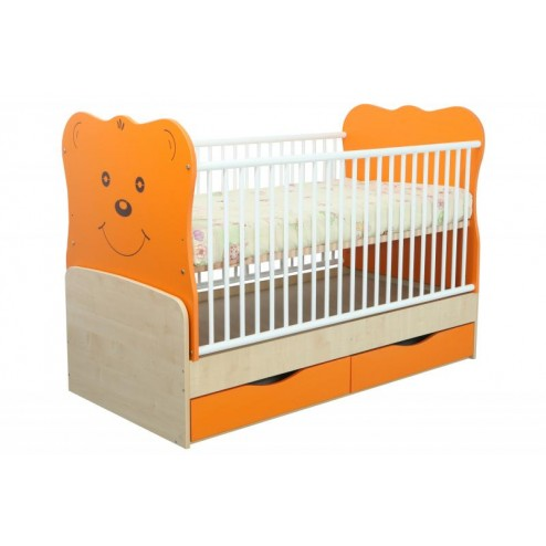 Patut Transformabil MYKIDS Teddy Natur-Orange Cu Leg 4837