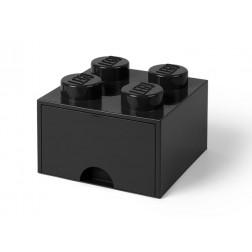 Cutie depozitare LEGO 2x2 cu sertar, negru (40051733)