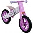 Bicicleta Fara Pedale Din Lemn ARTI Star Roz Deschis