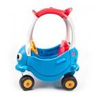 Masinuta din plastic de impins cu maner albastru cu rosu - Grow n Up