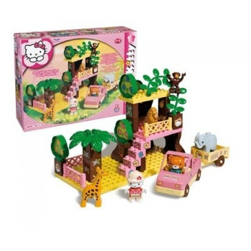 Set constructie Unico Plus Hello Kitty Safari
