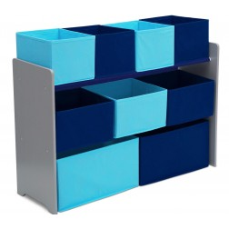 Organizator jucarii cu cadru din lemn Deluxe Grey Blue