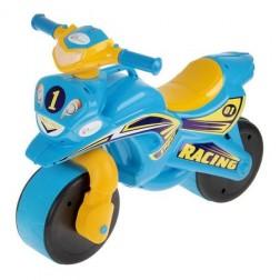 Motocicleta de impins MyKids Racing Albastru cu Galben