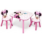 Set masuta si 2 scaunele Disney Minnie Mouse Pink Fruits