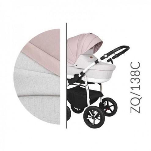 Carucior 3 in 1 cu Cadru Alb Baby Merc Zippy Q - ZQ138C