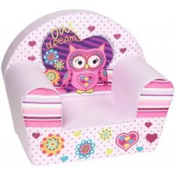 Fotoliu din burete pentru copii Owl Dreams Light Trade
