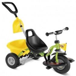 Tricicleta cu maner, verde, 2+, Puky