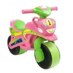 Motocicleta de impins MyKids Racing Roz cu Verde