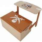 Mobilier 2 in 1 copii pentru depozitare jucarii Pirate Style