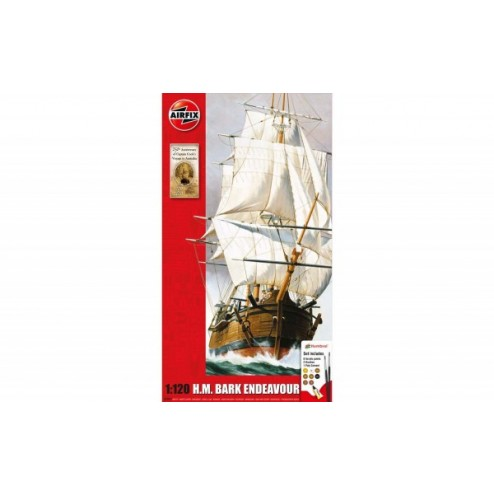 Kit constructie Barca Endeavour a Capitanului Cook, Airfix
