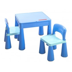 Set masuta cu 2 scaune Tega Mamut Albastru