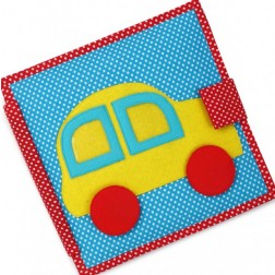 Carti educative din fetru cu activitati pentru copii The Fast Car Quiet books - Jolly Designs