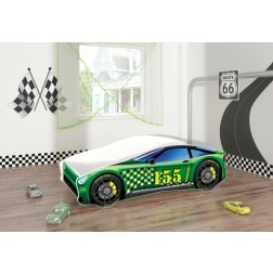 Pat Tineret Race Car 04 Green 140x70 - MyKids