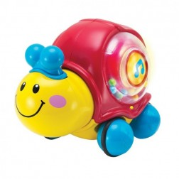 Jucarie interactiva WinFun Melc cu telecomanda si baloane de sapun