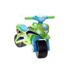 Motocicleta de impins Police Music 0139/52 Verde Albastru - MyKids