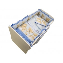 Lenjerie MyKids Teddy Hug Blue M2 4+1 Piese 120x60