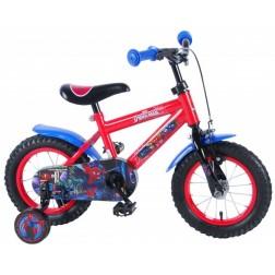 Bicicleta pentru baieti 12 inch, cu roti ajutatoare, Spiderman - Volare