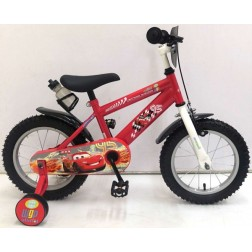 Bicicleta Cars baieti 14 inch cu roti ajutatoare partial montata - Volare