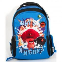 Ghiozdan CL 1/4 Angry Birds Albastru Pigna si minge cadou