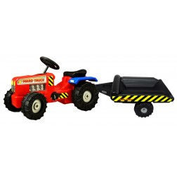 Tractor cu pedale si remorca Hard Truck red