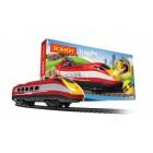 Set trenulet cu trei vagoane Airfix Hornby cu baterii lumini sunete sine tunel gara - Globo