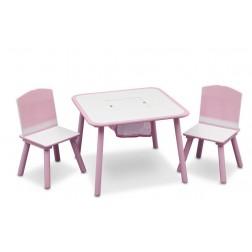 Set masuta multifunctionala si 2 scaunele Love Girl