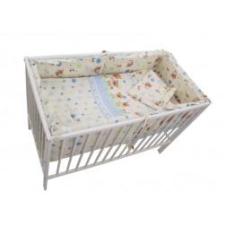 Lenjerie MyKids Baby Teddy Crem 4+1 Piese 120x60