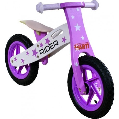Bicicleta Fara Pedale Din Lemn ARTI Star Roz Inchis