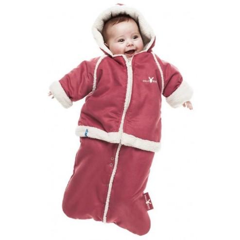 Costumas 6-12 luni, warm red, Wallaboo