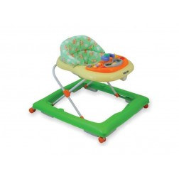 Premergator copii cu roti din silicon Baby Mix BG-1601 Green Cream
