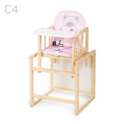 Scaun de masa multifunctional din lemn copii Aga Natur C4 - Klups