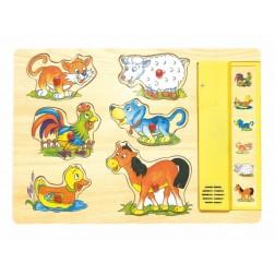 Puzzle sunetele animalelor Woodyland 90015