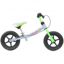 Bicicleta fara pedale 12 inch Explorer, Mamakids, Gri cu Verde