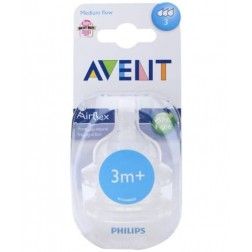 Set 2 tetine Philips Avent Airflex - 3 orificii