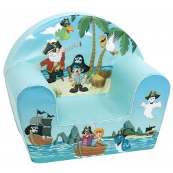 Fotoliu din burete pentru copii Pirate Trade