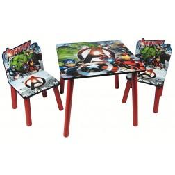 Set masuta si 2 scaunele Avengers