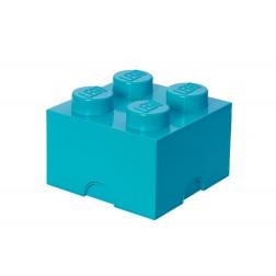 Cutie depozitare LEGO 2x2 albastru turcoaz (40031743)