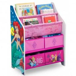 Organizator carti si jucarii cu cadru din lemn Disney Princess - Delta Children